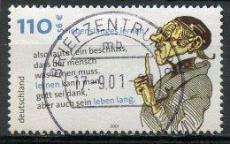 Germany 2001 110pf Lifelong Learning Issue #2136 SON Cancel - [7] Federal Republic