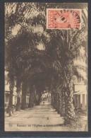 8186-CONGO BELGE-AVENUE DE L'EGLISE A LEOPOLDVILLE-OUEST-1929-FP - Congo - Brazzaville