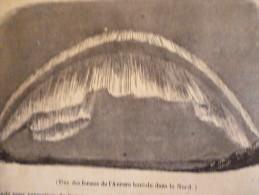 Une Des Aurores Boréales Du Nord , Gravure De 1842 - Documents Historiques