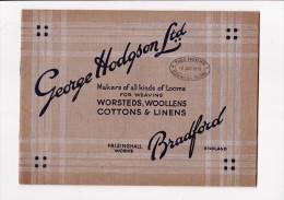 Catalogue George HODGSON Ltd Bradford Looms For Weaving Métiers à Tisser THEO HUGHE Roubaix - Royaume-Uni
