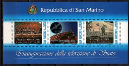 1993 San Marino - Innaguration Of The State Television - Hologramm - MS -Mi B 16 Paper - MNH** - Hologramme