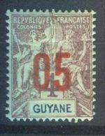 FRANCE  COLONIES  ( GUYANE  )  :    Y&T  N°  67  TIMBRE  AVEC  BELLE  OBLITERATION , A  VOIR  . - Französisch-Guayana (1886-1949)