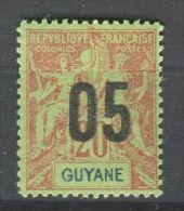 FRANCE  COLONIES  ( GUYANE  )  :    Y&T  N°  68  TIMBRE  AVEC  BELLE  OBLITERATION , A  VOIR  . - Französisch-Guayana (1886-1949)