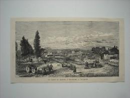 GRAVURE 1877. LA PLACE DU MARCHE A BELGRADE............. - Prints & Engravings