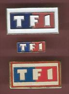 40757-lot De 3 Pin's.TV.télévision..me Dias.TF1... - Médias