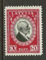 LETTLAND Latvia 1930 Michel 166 Tuberkulose * - Latvia