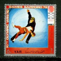 EMIRATI  ARABI - YAR - Year 1972 - Sapporo 72 - Pair Skating - Usato -used. - Pattinaggio Artistico