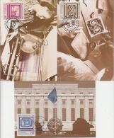 UNO New York/Geneva/Vienna 1991 40th Anniversary United Nations 3v 3 Maximum Cards (19113) - Gezamelijke Uitgaven New York/Genève/Wenen