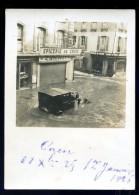 Photographie Originale 9 Cm X 6,5 Cm De Caen 1er Janvier 1926 Rue St Jean Rue Des Carmes Inondatio JA15 1 - Photos
