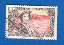 1960 N° 1247  NIÇOISE EN PLAGE  OBLITÉRÉ - Gebraucht