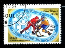 AFGANISTAN - Poste AFGHANES - Year 1984 - Sarajevo 84 - Ice Hockey - Usato - Used. - Hockey (su Ghiaccio)