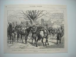 GRAVURE 1877. EVENEMENTS D'ORIENT.......... ARRIVEE A CONSTANTINOPLE DE BACHI-BOZOUKS REVENANT DE LA FRONTIERE......... - Prints & Engravings