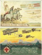 AVIAZIONE, AEREI - AVIATION, AIRPLANES - LOTTO 4 CARTOLINE RIPRODUZIONE  FP - Avions