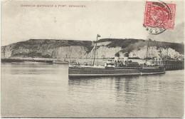 NEWHAVEN - BATTELLO IN USCITA DAL PORTO - VIAGGIATA 1909 X DOUBS  FP - CG - Non Classificati
