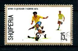 ALBANIA - SHQIPTARE  - Year 1974 - Calcio - Foot Ball - Usato - Used. - 1974 – Germania Ovest