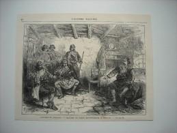 GRAVURE 1877. EVENEMENTS D'ORIENT..........REUNION DE CHEFS MONTENEGRINS A TOUPAN............ - Prints & Engravings