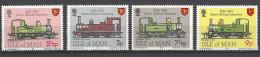 ISLE OF MAN - Mi-Nr. 29 - 32 - 100 Jahre Eisenbahn Auf Man Postfrisch - Man (Insel)