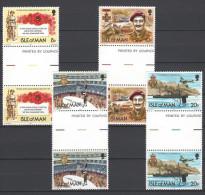 ISLE OF MAN - Mi-Nr. 196 - 199 Mit Zwischensteg - 60 Jahre Königliche Britische Legion Postfrisch - Man (Insel)