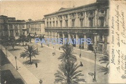 89 ITALY MESSINA SICILIA SQUARE PIAZZA DEL MUNICIPIO YEAR 1906 CARTOLINA POSTAL POSTCARD - Altri