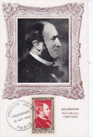 Histoire , Politique,Haussmann, Carte Maximum France Yvert N 934, Paris 1952 - Histoire