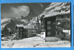 EGG982, Zermatt, Cervin, 1630, Maisons Et église Du Village,  Circulée 1958 - VS Valais