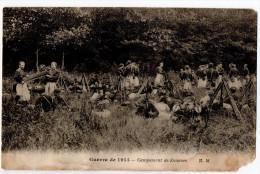 Cpa - Guerre De 1914 - Campement De Zouaves - Guerre 1914-18