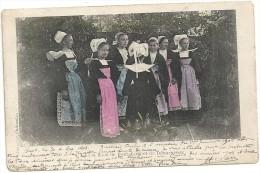29 - Jeunes Filles De PONT-AVEN Et De DOUARNENEZ. Circulé En 1904. - Pont Aven