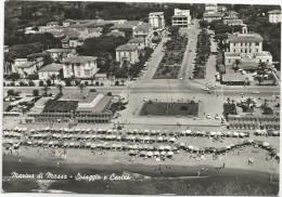 Y1531 Marina Di Massa - Spiaggia E Centro - Vista Aerea Vue Aerienne Aerial View / Viaggiata 1961 - Massa