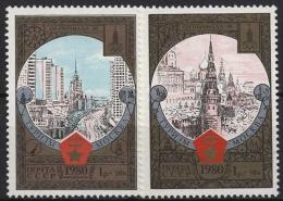 Sowjetunion 1980 Olympische Sommerspiele Moskau 4927/28 Postfrisch - 1923-1991 URSS
