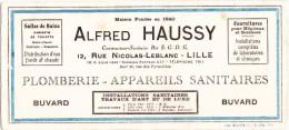 BUVARD - HAUSSY - Constructions SANITAIRES - LILLE - Buvards, Protège-cahiers Illustrés