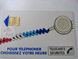 RARE : CORDONS BLANC TÉLÉCARTE 50U SC4OB S/E EMPREINTE SOUS LA FLÈCHE  NR 712095 - France
