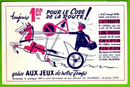 BUVARD - JEU CODE De La ROUTE - Edit. DUJARDIN - 1959 - Buvards, Protège-cahiers Illustrés