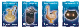 2009 Turkei Old Anatolian Civilisation - Phrygians Arheology Finding - Set Of 4 V Paper - MNH** - Archäologie