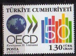 2011 Turkey - 50 Years Of OECD - 1 V Paper - MNH** - Nuevos