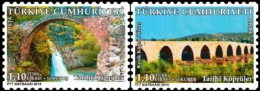 2014 Turkey -Historical Bridges Of Turkey - 2 V Paper   - MNH** - Nuevos