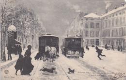 NANCY (54) - Cours Léopold En Hiver (d'après Le Peintre Lorrain Léon VOIRIN) - Nancy