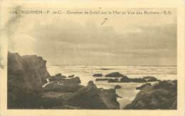 62 - EQUIHEN - Coucher De Soleil Sur La Mer Et Vue Des Rochers - Francia