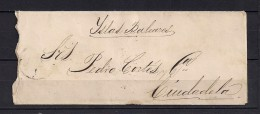 1872,  SOBRE CIRCULADO A CIUDADELA EN MENORCA, ANTILLAS ED. 22, MATASELLOS PARRILLA, LLEGADA - 1872-73 Königreich: Amédée I.