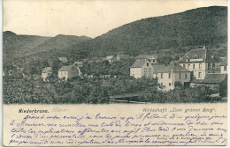 """Cpa Niederbronn /Wirtschaft """"zum Grünen Berg"""" . -Postkarte / Précurseur. - Niederbronn Les Bains"""