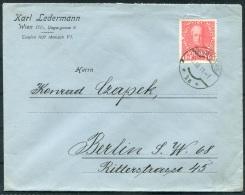 1911 Austria Wien Ledermann Brief 12h Jubilee - Berlin Germany - Lettres & Documents