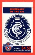 AUS SC #1511a MNH BKLT (w/Pane/10)  1996 Australian Football League (Carlton Blues) CV $14.00 - Mint Stamps