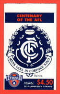 AUS SC #1511a MNH BKLT (w/Pane/10)  1996 Australian Football League (Carlton Blues) CV $14.00 - 1990-99 Elizabeth II