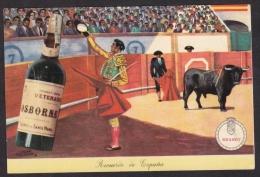 Old Advertising Postcard - BRANDY OSBORNE Corrida Vin Vino Wine Spain Espana (2 Scans) - Corrida