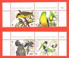 AUS SC #1676a + 1678a MNH PR  1998 WWF / Endangered Birds CV $6.10 - 1990-99 Elizabeth II