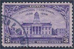 USA / États-Unis  1938  #  838   ( Iowa Territiry  Centennial ) - United States