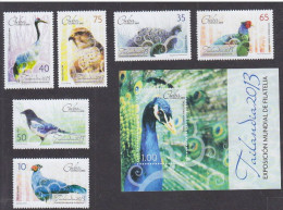 O) 2013 CUBA-CARIBE, BIRDS, WORLD EXHIBITION OF PHILATELY THAILAND 2013, SOUVENIR AND  STAMPS MNH - Cuba