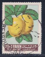 Lebanon, Scott # C361 Used Apples, 1962 - Libano