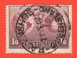 "AUS SC #C5 1937 Mercury And Hemispheres W/SON (""RAVENSHOE / QUEENSLAND / 6-21-47""), CV $1.40 - Airmail"