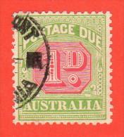 AUS SC #J40 U  1909 1p Postage Due, CV $9.75 - Postage Due
