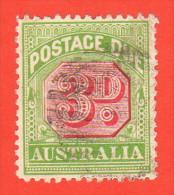 AUS SC #J42 U  1909 3p Postage Due, CV $14.50 - Postage Due